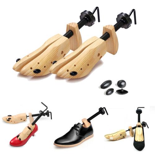 2X MEN Women Pine Wood Boot Shoe Tree Stretcher Wooden Shaper Bunion Width Size