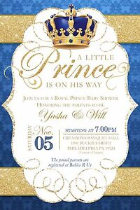 Personalized royal prince boy baby shower invitations ebay image is loading personalized royal prince boy baby shower invitations filmwisefo