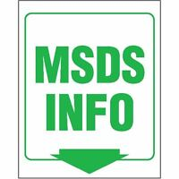 V-shape Sign msds Info Sign 1 Ea on sale