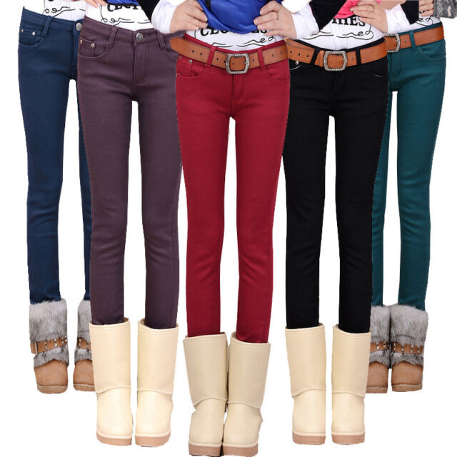 2015 NEW FASHION WOMENS SLIM STRETCH PENCIL PANTS CASUAL SKINNY JEANS TROUSERS