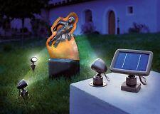 Esotec LED SOLARSTRAHLER Trio 3ER SET SOLARSPOT  SOLARLEUCHTE  94102140