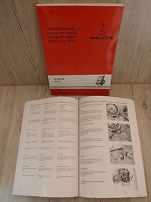 Ausdauernd Werkstatthandbuch Deutz Motor 511 F2l511w