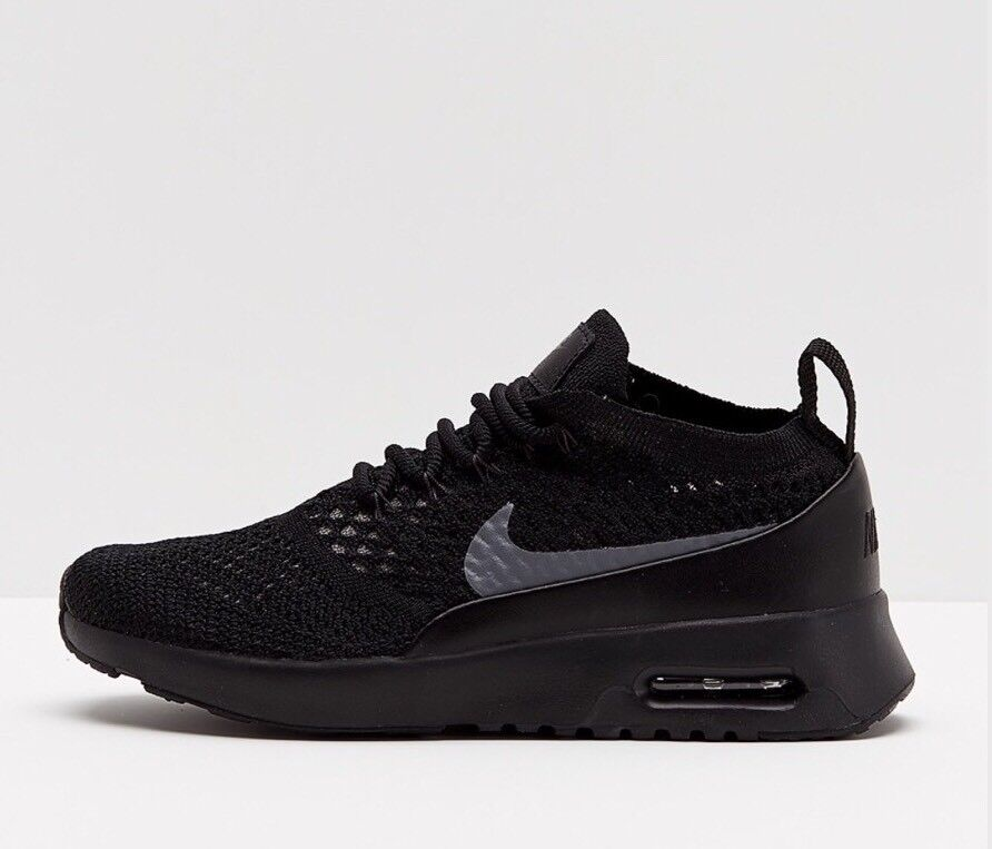 Nike Bir Max Thea Ultra Flyknit Black Dark Grey Uk Size 7 EUR 41 881175-004