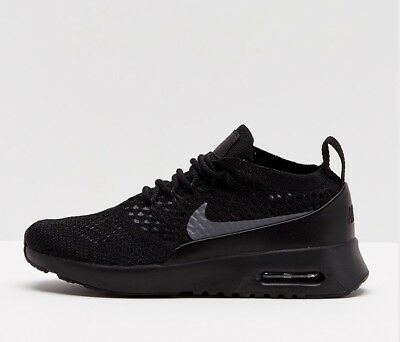 Details about Nike Air Max Thea Ultra Flyknit Black Dark Grey Uk Size 7 EUR 41 881175 004