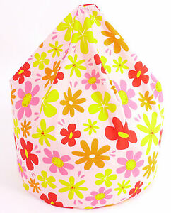 Large-Adult-Teen-Summer-Flowers-Bean-Bag-With-Beans-By-Bean-Lazy