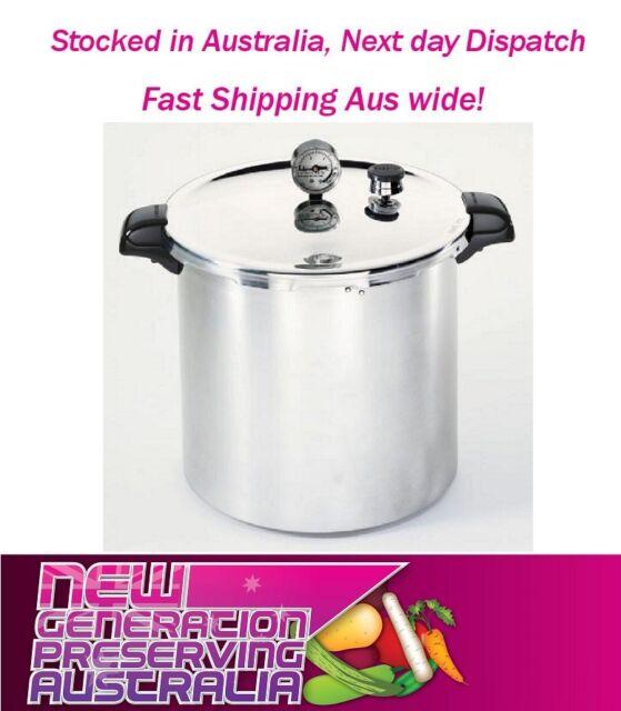 1x Presto USA 21L Pressure Cooker Canner Preserving Kit + 6 WM AM Pint Jars Free