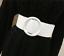 Women Belt Adjustable Round Metal Buckles Elastic Solid Patterned Leather Straps