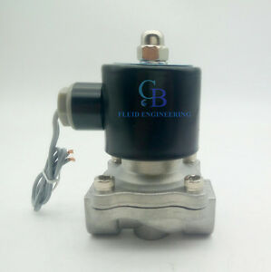 """3//4/"""" BSP Stainless Steel 304 Normally Closed Electric Solenoid Valve 24V DC"""