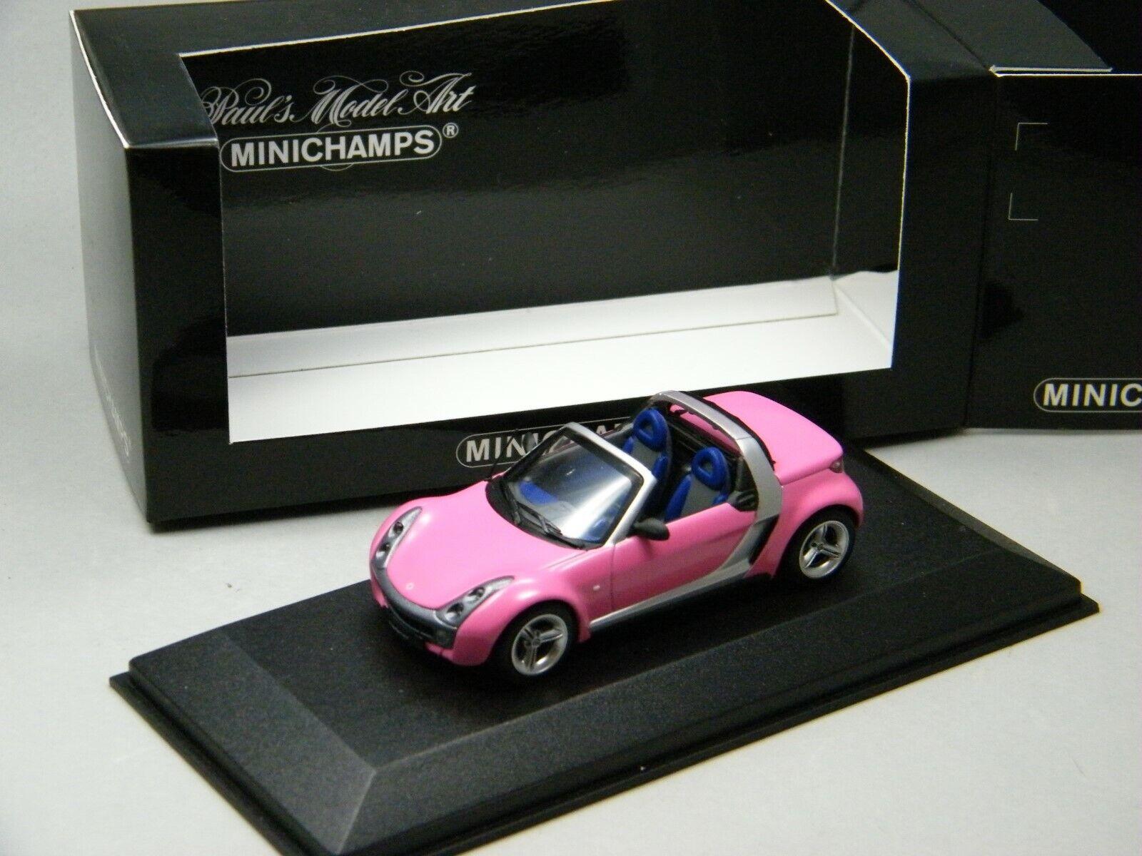 1 43 Minichamps smart roadster converdeible rosadodo lectores elección vencedor auto muy rara vez