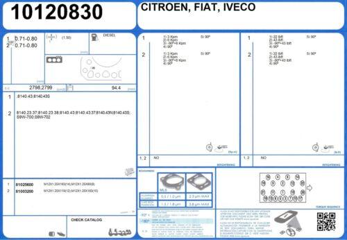 Cylinder Head Bolt Set FIAT DUCATO TD 2.5 95 8140.27 3//1994-4//2002