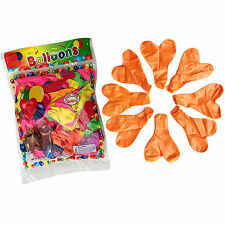 10pcs Pearl Latex 10 Inches Orange Heart Balloons Celebration Wedding Party