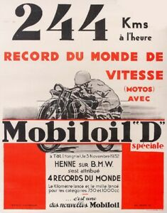 BMW HENNE 1932 Rpty - POSTER HQ 50x70cm* d'1 AFFICHE VINTAGE