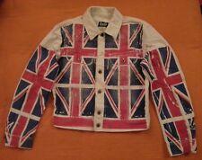 Rare Vintage DOLCE GABBANA Union Jack BRITISH FLAG Denim Jacket US Medium EUR 48