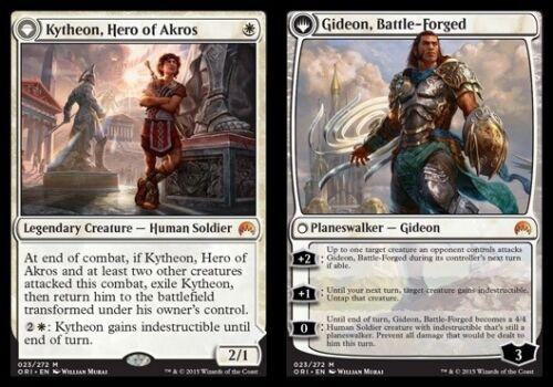 Hero of Akros //// Gideon Battle-Forged NM-Mint 1x Kytheon English Magic Origin