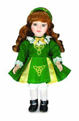 """""""niamh"""" Irish Bambola Di Porcellana Con Costume Da Danza Irlandese 12""""-mostra Il Titolo Originale"""