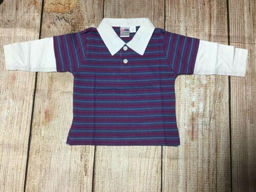Boys Size 0 ~ Baby Wonder L//S Polo Shirt ~ New ~ MBC
