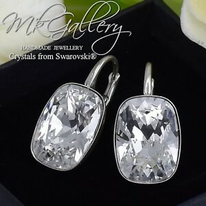 925-SILVER-EARRINGS-CRYSTALS-FROM-SWAROVSKI-14MM-RECTANGLE-CRYSTAL-CLEAR