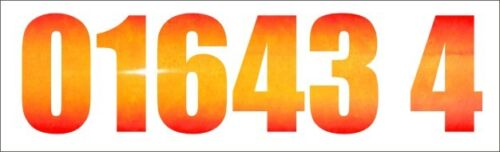 2x 2FT WIDE REFLECTIVE TELEPHONE NUMBER stickers car van truck lorry taxi