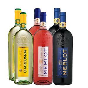 Grand-Sud-sortiert-Chardonnay-Merlot-Merlot-Rose-Flasche-12-5-vol-6-x-100cl