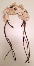 Glorious Flower Garland Marni Headband W Jewels And Dangling Fringe