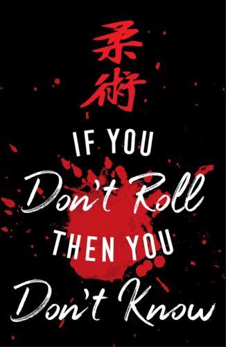 BJJ Art Print Motivational Jiu Jitsu Poster 11x17 Inches