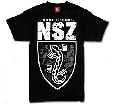 T-Shirt Koszulka Patriotic Eagle Poland Polish Polen Polska Walczaca NSZ Black