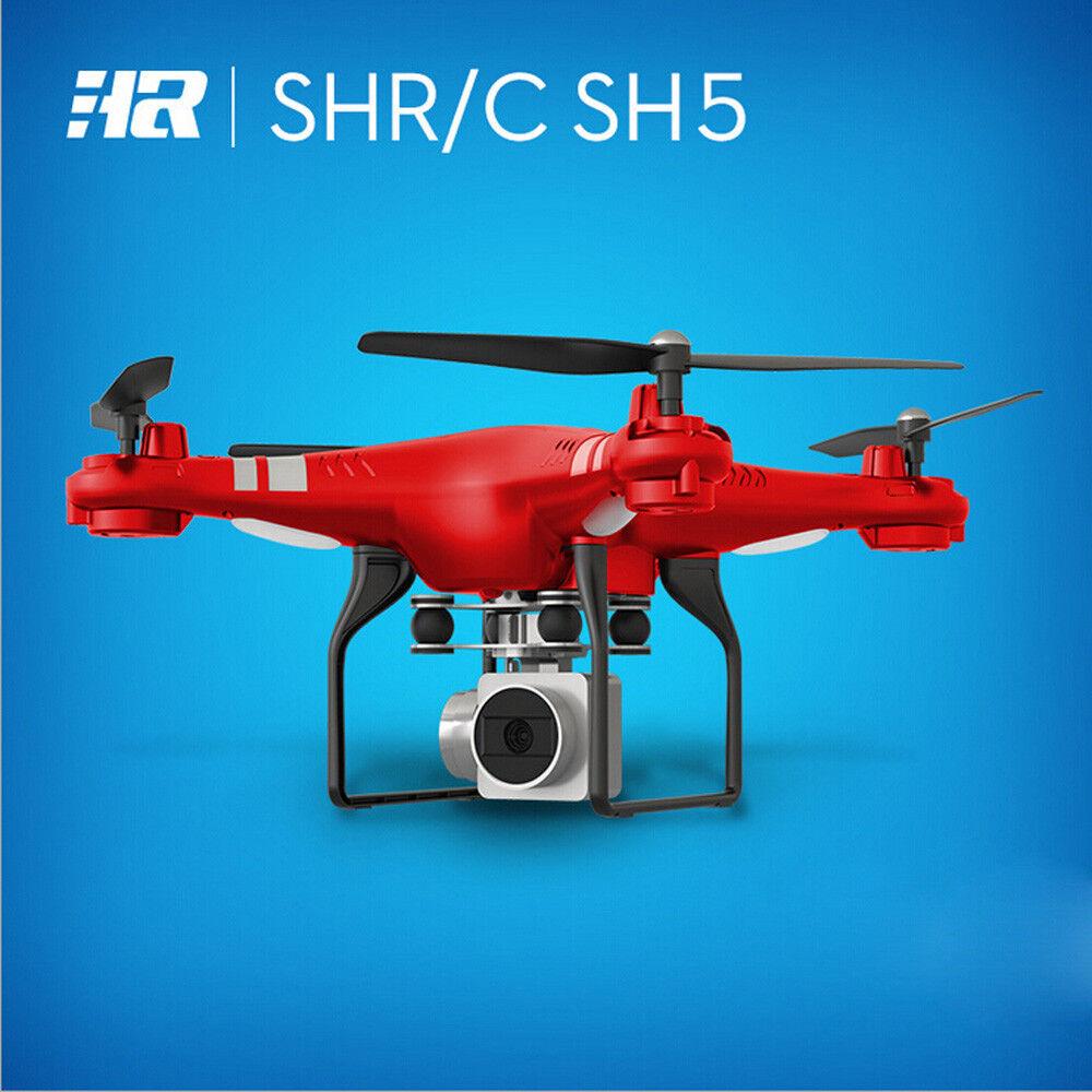 HR SH5HD Quadcopter Drone with 2MP Full HD 1080p Wide-Angle Camera WiFi FPV rosso