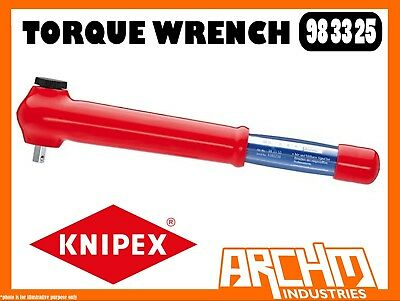 KNIPEX Tools 1000V Insulated Reversible Torque Wrench 3//8 Drive 983325