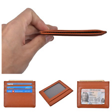 Compact Front Pocket Slim Credit Card Holder Thin RFID Block Wallet Cash Money