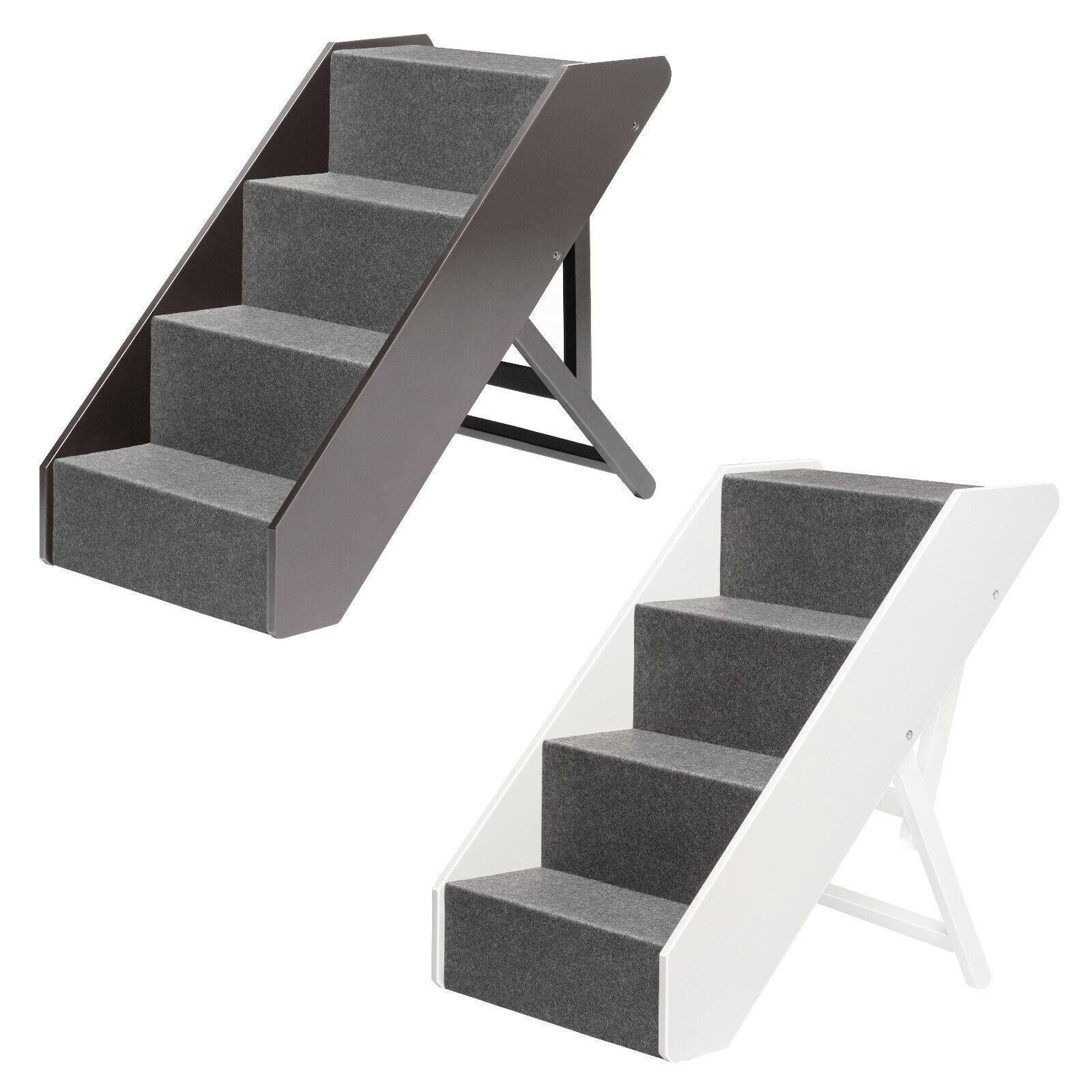 Upp animale scale Deluxe massiccio FSC legno 4 fasi scale cani gatti scale rampa