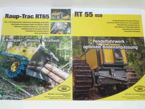 2964 Raup-Trac RT65 RT 55 eco Rückeraupen Forstraupen Prospekte