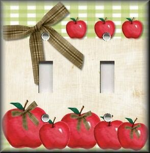 Light switch plate cover country kitchen apples home for Apples decoration for home