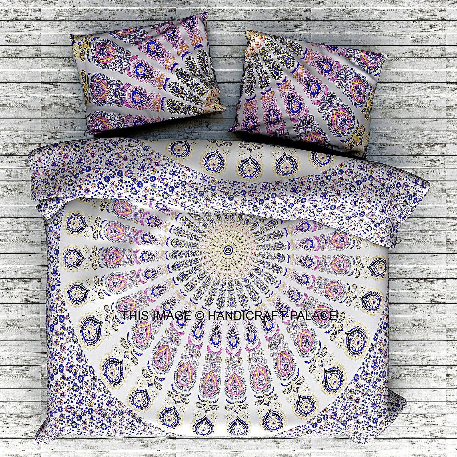 Indian Duvet Doona Cover Comforter Mandala Hippie Bohemian Queen Size   PILLOWS