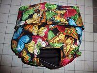 Blk Dark Butterflies Female Dog Diaper Panty Adjust Elastic Carols Crate Covers