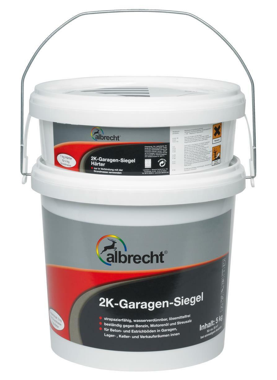 Albrecht 2K Garagen-Siegel - 5 l, kieselgrau, RAL 7032