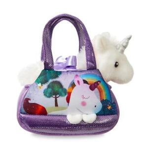 3767c2dbe1b2 Details about Sparkle Tales Harmony The White Unicorn Soft Plush Toy with  Purple Fancy Pal Bag