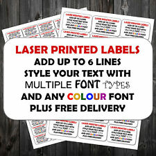 Personalised Any Colour Printed Sticky Address Labels Stickers Pampp