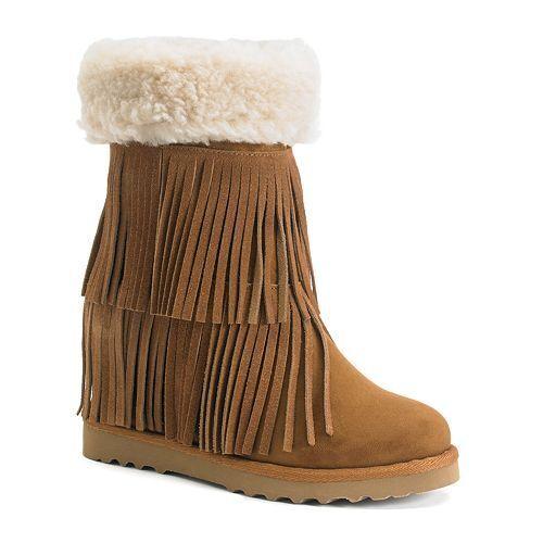 Brand New Madden Girl Sleet Women's Fringe Wedge Boots - Size 10(M) - NIB
