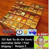 YuGiOh! 100 Bulk Cards Pack [10 Rares & HOLOS] GENUINE KONAMI. FREE SLEEVES