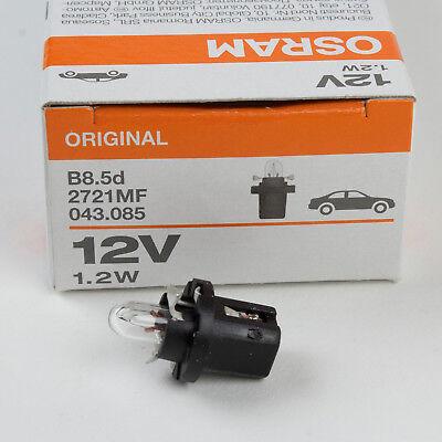 10x Osram t5 2721 Glassockel Lampe w2x4.6d 12 V 1,2 W