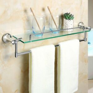 Alise Gy8000 Glass Shelf Bathroom Shelves Towel Bar Wall Mount
