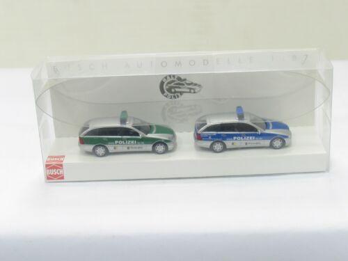 BD6768 BUSCH 49171 Mercedes Benz C-Klasse Polizei Set 1//87 OVP