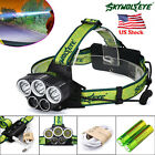 SKYWOLFEYE CREE XML 5 T6 LED 60000 Lm Head Lamp Rechargeable Torch +2x18650 TL
