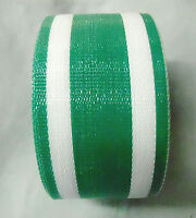 Lawn Chair Webbing Outdoor Strapping Replace 3 X 100 Feet White And Green
