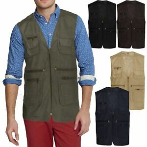 Mens-Multipockets-Lightweight-Casual-Summer-Gilet-Mesh-Waistcoat-Fishing-Hunting