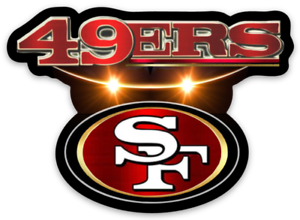 San Francisco 49ers logo Type NFL Football Die-cut MAGNET ...