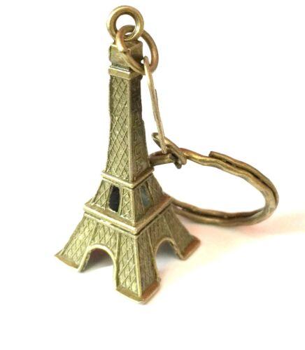 Mini Eiffel Tower Paris Model Gift Keyring Keychain Key Split Ring UK SHOP