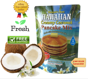 3 PACK CREAMY COCONUT PANCAKE MIX REAL COCONUT MILK  8 oz. 226 g HAWAIIAS BEAST
