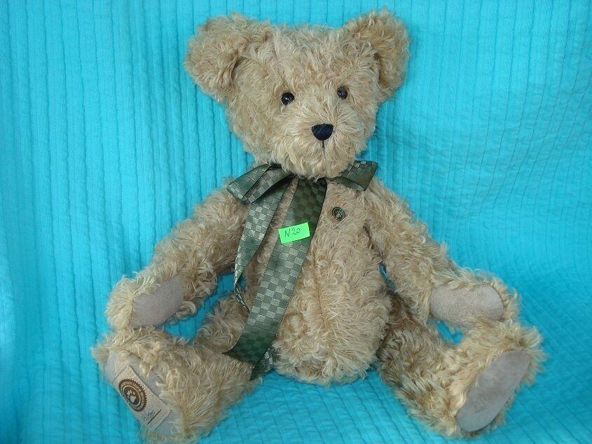 Peluche n°N20  OURS rare numéroté 37cmteddy bear BOYDS