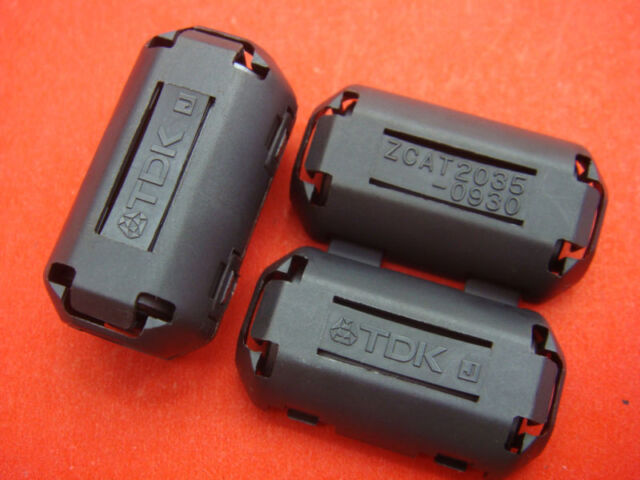 1pc TDK 9mm Clip-on RFI EMI RF Radio Audio Video Cable Noise Filter Ferrite Core